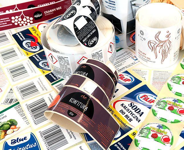 Etykiety samoprzylepne druk cyfrowy